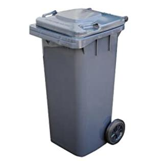Vestil TH-32-GY Polyethylene 32-Gallon Trash Can, 22&amp;#34; Width x 37&amp;#34; Length, Gray at Sears.com