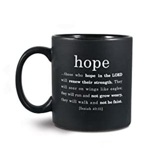 LCP Ceramic 16 oz. Black with White Lettering Christian Mug at Sears.com