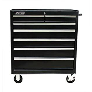 Excel International Excel TB2608X-Black 36-Inch Roller Metal Tool Cabinet with 6 BBS Drawers at Sears.com
