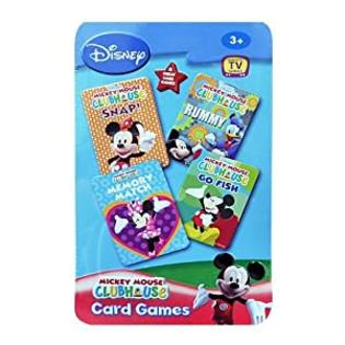 Disney Mickey Mouse CLUBHOUSE 4 in 1 Card Games Set&amp;#34;MEMORY MATCH&amp;#34;,&amp;#34;RUMMY&amp;#34;,&amp;#34;SNAP!&amp;#34; and&amp;#34;GO FISH&amp;#34; in Tin Box at Sears.com