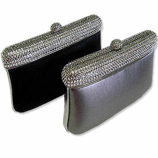 Jazzy Jewels Swarovski Crystal Trim Silver Evening Bag Purse at Sears.com