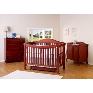 AT HOME by O DaVinci Parker 4-in-1 Crib with Toddler Rail in Cherry at Sears.com