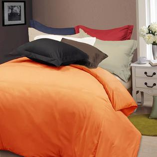 AT HOME by O Solid Color Soft Microfiber Plain Woven 3-piece Duvet Cover Set at Sears.com