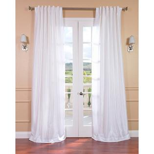 AT HOME by O Ice White Vintage Faux Textured Dupioni Silk 108-inch Curtain Panel at Sears.com