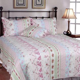 AT HOME by O Wild Rose Enchantment Patchwork Twin-size 2-piece Quilt Set at Sears.com