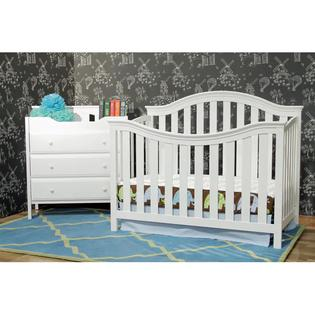 AT HOME by O DaVinci Goodwin White 4-in-1 Convertible Crib with Toddler Rail at Sears.com
