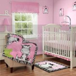 Baby Boom Luv Zebra 4pc Crib Bedding Set, Pink at Sears.com