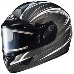HJC CL-16 Razz Snow Helmet Black Silver Electric Shield 2xl at Sears.com