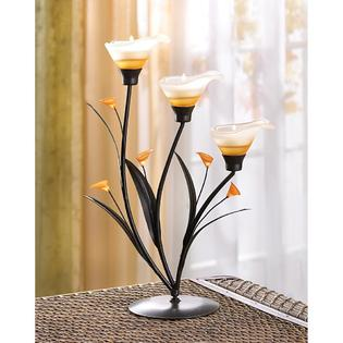 Home Locomotion Amber Lilies Tealight Holder at Sears.com