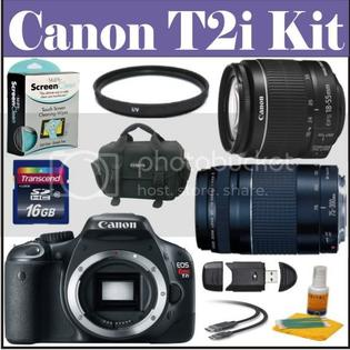 Canon&nbsp; EOS Rebel T2i 18 MP CMOS APS-C Digital SLR Camera with EF-S