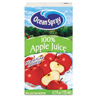 Ocean Spray Aseptic Juice Boxes, 100% Apple, 4.2 oz, 40 per Carton at Sears.com