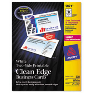 MotivationUSA * Two-Side Clean Edge Laser Business Cards, 2 x 3 1/2, White, 1000/Pack at Sears.com
