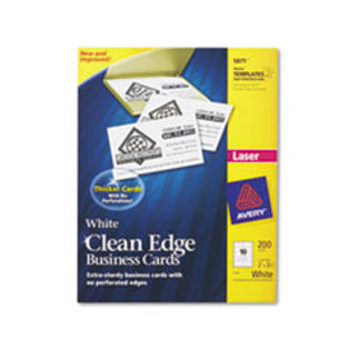 COU ** Clean Edge Laser Business Cards, 2 x 3 1/2, White, 10/Sheet, 200/Pack at Sears.com