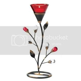FM Gifts RUBY BLOSSOM TEALIGHT HOLDER at Sears.com
