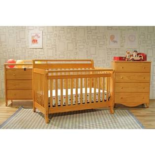 DaVinci Emily 4-in-1 Convertible Crib with Toddler Rail in Honey Oak at Sears.com