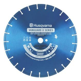 Husqvarna Vanguard II Blue 250V Premium Walk Behind Saw Diamond Blades - Size: 14&amp;#34; x 0.11&amp;#34; at Sears.com
