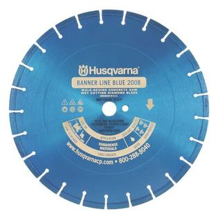 Husqvarna Banner Line Blue 300B Super Premium Walk Behind Saw Diamond Blades - Size: 12&amp;#34; x 0.375&amp;#34; at Sears.com