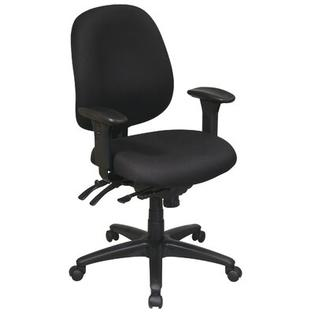 Office Star Work Smart Mid-Back Multi-Function Ergonomic Office Chair - Fabric: Icon - Black at Sears.com