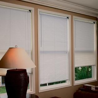 "Radiance 1"" Premium Room Darkening Mini Blinds in White - Size: 36""W x 64""L at Sears.com"