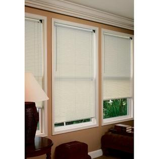 "Radiance 1"" Premium Room Darkening Mini Blinds in Alabaster - Size: 34""W x 64""L at Sears.com"