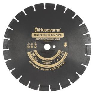 Husqvarna Banner Line Black 500B-R Super Premium Walk Behind Saw Diamond Blades - Size: 14&amp;#34; x 0.25&amp;#34; at Sears.com