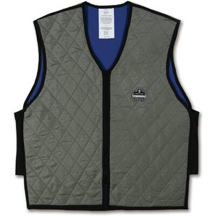 Chill-its Large Evaporative Cooling Vest In Gray