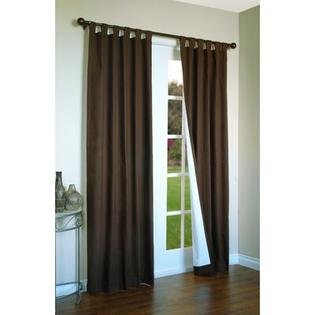 Thermalogic Weathermate Solid Insulated Color Tab Top Curtain Pairs - Size: 72&amp;#34; H x 80&amp;#34; W, Color: Chocolate at Sears.com