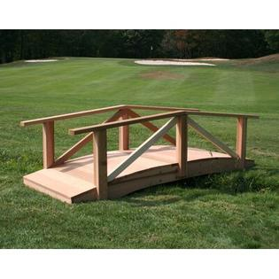 Creekvine Designs Cedar Pearl River Garden Bridge - Size: 4&#039;, Finish: Cedar Stain/Sealer at Sears.com