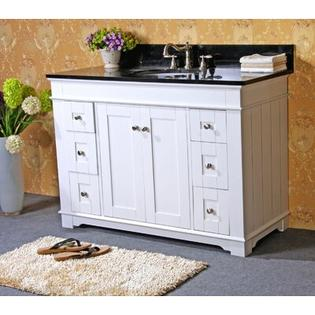 Legion Furniture 48&amp;#34; Single Bathroom Vanity Set with Two Door - Finish / Vanity Top: White / Absolute Black Granite at Sears.com
