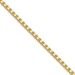Jewelryweb Stainless Steel Ip Gold-plated 2.4mm 20inch Box Chain Necklace - 20 Inch at Sears.com