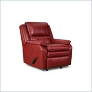United Furniture (Simmons Upholstery) Simmons Upholstery Rocker Recliner in Soho Bonded Leather Match Cardinal at Sears.com