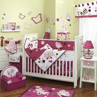 Lambs &amp; Ivy Raspberry Swirl 6 Piece Baby Crib Bedding Set by Lambs &amp; Ivy at Sears.com