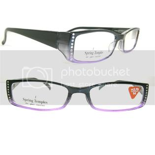 Crystal Case Two Tone Crystal Rhinestone Reading Glasses Black Purple +1.50 at Sears.com