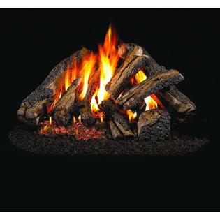 Peterson Real Fyre 18-inch Western Campfyre Log Set With Vented Natural Gas Ansi Certified G46 Burner - Electronic On/Off Remote at Sears.com
