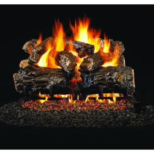 Peterson Real Fyre 24-inch Burnt Rustic Oak Outdoor Log Set With Vented Stainless G45 Burner at Sears.com