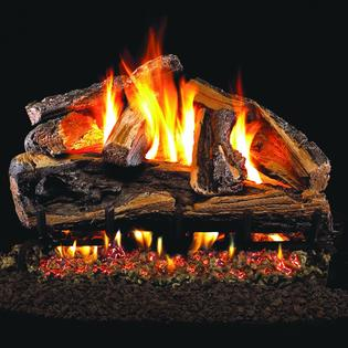 Peterson Real Fyre 18-inch Rugged Split Oak Outdoor Log Set With Vented Stainless G45 Burner at Sears.com