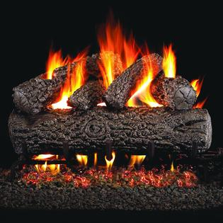 Peterson Real Fyre 30-inch Post Oak Outdoor Log Set With Vented Propane Gas Stainless G45 Burner at Sears.com