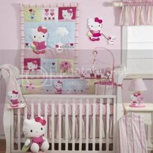 Lambs &amp; Ivy Hello Kitty and Puppy 4-Piece Baby Crib Bedding Set, Pink at Sears.com