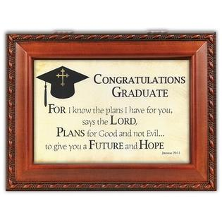 Cottage Garden Music Box With Congratulations Graduate Insert Plays Brahms Lullaby at Sears.com