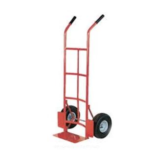 "Vestil DHHT-500S-HR Steel Dual Handle Hand Truck, 10"" x 2-1/2"" Solid Rubber Wheels at Sears.com"