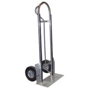"Vestil SPHT-500-SS-HR  Stainless Steel ""P"" Handle Hand Truck with 10"" x 2"" Hard Rubber Wheels at Sears.com"
