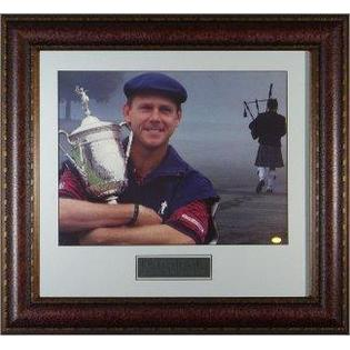 Sports Memorabilia Payne Stewart unsigned 11X14 Photo 1999 US Open/ Bag Piper Tribute Leather Framed - Framed Golf Photos, Plaques and Collages at Sears.com