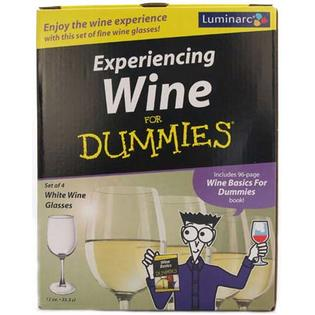 LUMINARC Glasses &amp; White Wine For Dummies Book Gift Set at Sears.com