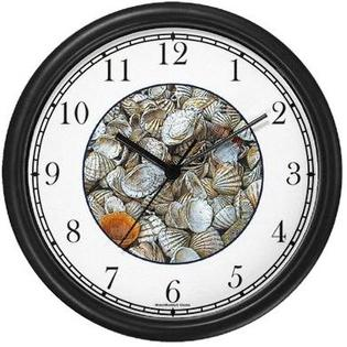 WatchBuddy Sea Shells / Seashells #4 (JP6) Wall Clock by WatchBuddy Timepieces (Black Frame) at Sears.com