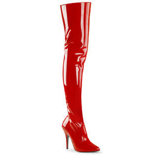 Pleaser Seduce-3010 Seduce-3010 Sexy Women&#039;s High Heel Red Thigh Boots Shoes at Sears.com