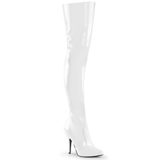 Pleaser Seduce-3010 5 Inch Heel Thigh High Women&#039;s White Boots at Sears.com