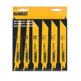 DeWALT DW4856 6-Piece Metal/Woodcutting Reciprocating Saw Blade Set at Sears.com