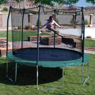 trampoline 12&#039; Round Trampoline and Enclosure at Sears.com