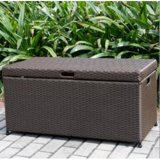 Wicker Lane ORI003-A Outdoor Espresso Wicker Patio Furniture Storage Deck Box at Sears.com
