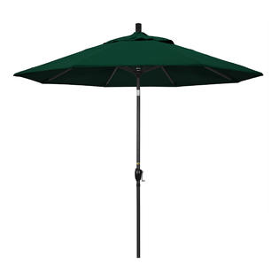 California Umbrella GSPT908302-5446 9 ft. Aluminum Market Umbrella Push Tilt - M Black-Sunbrella-Forest Green at Sears.com